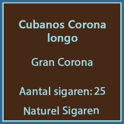 Cubanos Corona longo 25 st.