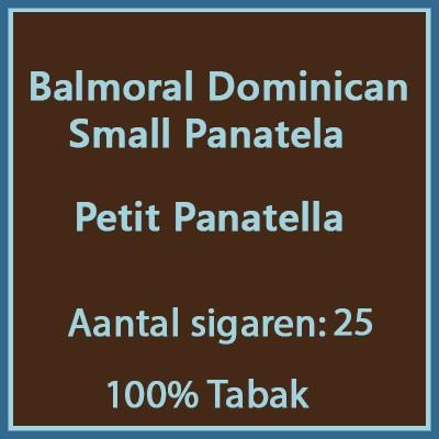 Balmoral Domenican Small Panatela 25st.