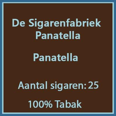 De sigarenfabriek Panatella 25 st 100% tabak