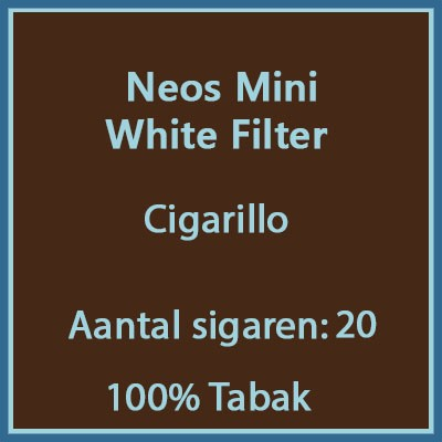 Neos Mini white filter 20 st