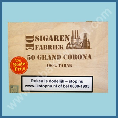 De sigarenfabriek Gran corona 25 st 100% tabak