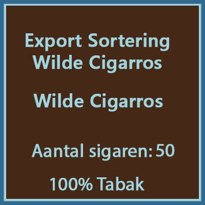 Export sortering wilde cigarros 50st