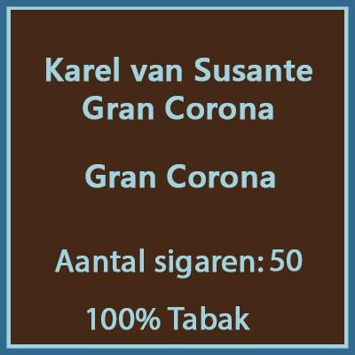Karel van Susante Gran Corona 50 st.