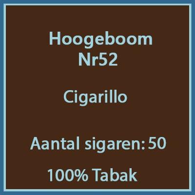 Cigarillos no52 50st 100%