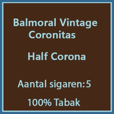 Balmoral Vintage Coronitas 5 st.