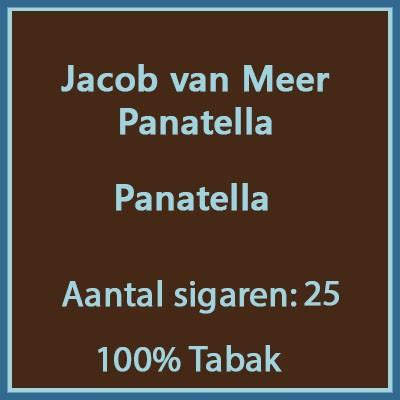 Jacob van Meer Panatella 25 st.