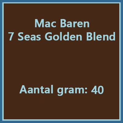 Mac baren 7 seas Golden blend 40 gr