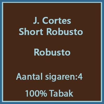J. Cortes Short robusto 4 st