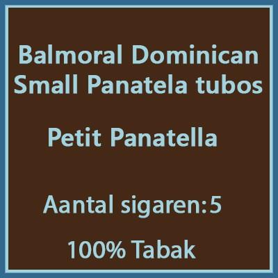 Balmoral Domenican Small Panatela tubos 5 st.