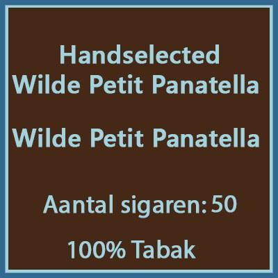 Handselected Wilde petit panatella 50st 100%