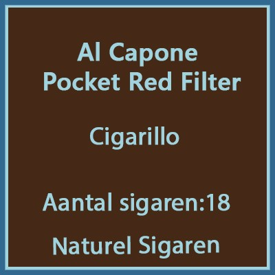 Al Capone Pockets Red Filter 18 st