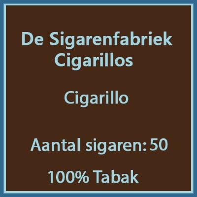 De sigarenfabriek Cigarillos 50 st. 100% tabak