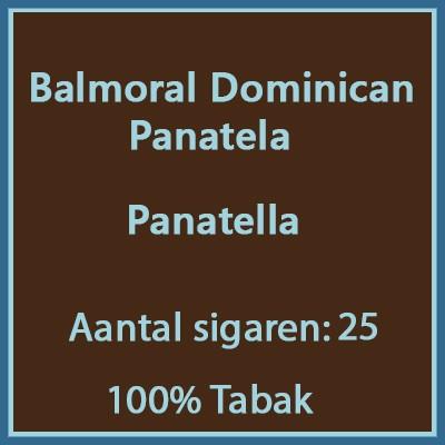 Balmoral Domenican Panatela 25 st.