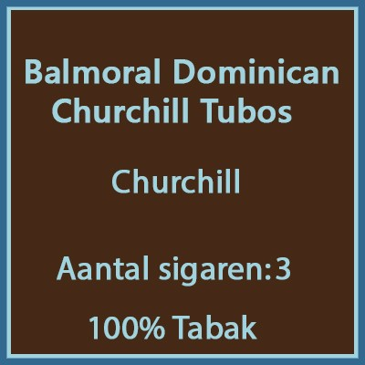 Balmoral Domenican Churchill 3 st. Tubos