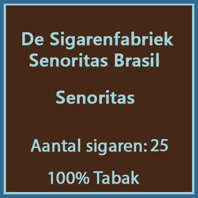 De sigarenfabriek Senoritas 25 st Brasil 100% tabak