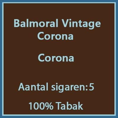 Balmoral Vintage Corona 5 st