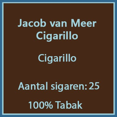 Jacob van Meer Cigarillos 25 st.