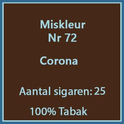 Miskleur Nr. 72 25 st.(corona)