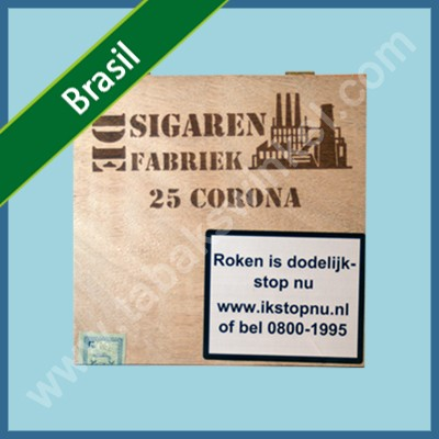 De sigarenfabriek Corona 25 st. Brasil 100% tabak