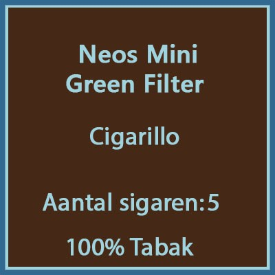 Neos mini green filter 5st.