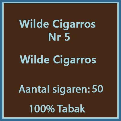 Wilde cigarros no5 50st 100%