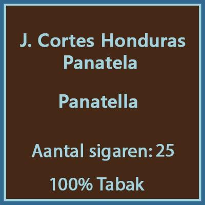 J. Cortes Panetela Honduras 25 st.