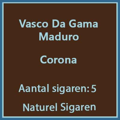 Vasco da gama Corona Maduro 5 st.