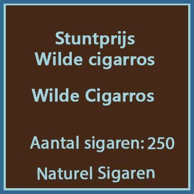 Stuntprijs Wilde Cigarros 250 st