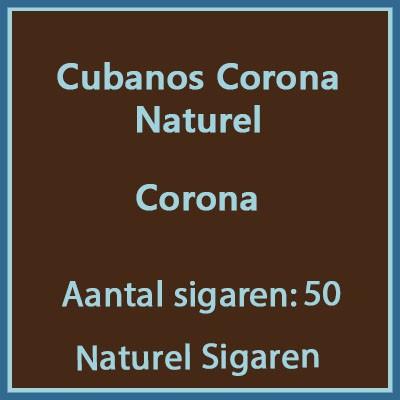 Cubanos Corona Naturel 50 st.