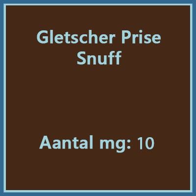 Gletscher prise menthol with columbia-ol 10 snuff mg