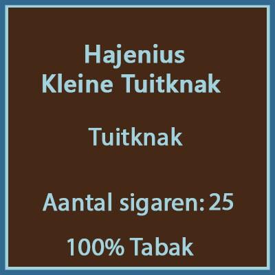 Hajenius Kleine Tuitknak 25 st.