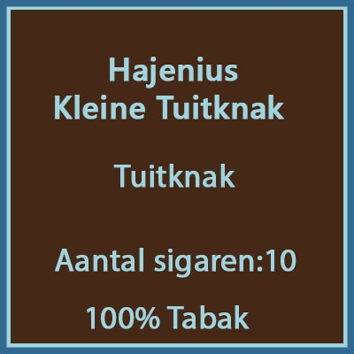 Hajenius Kleine Tuitknak 10 st.